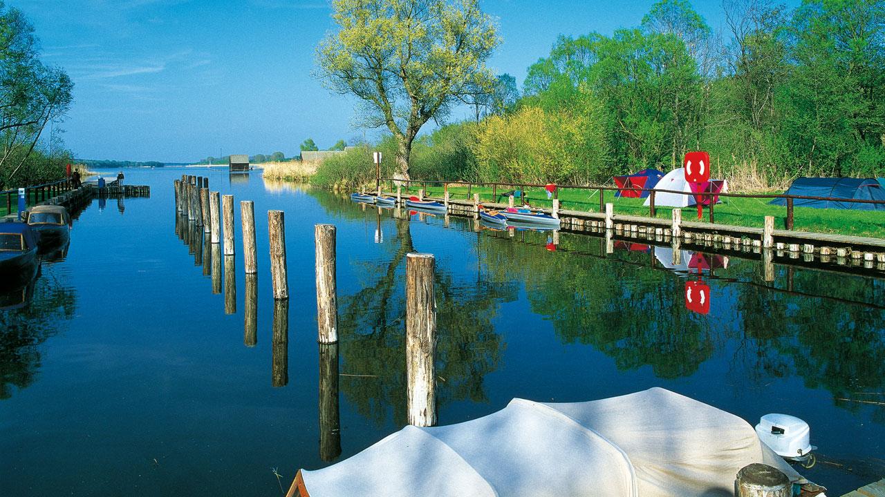 Wasserwanderrastplatz in Wesenberg, Mecklenburgische Seenplatte