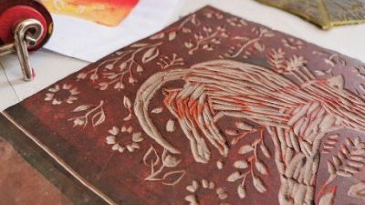 Linoldruck - Linolschnitttechnik
